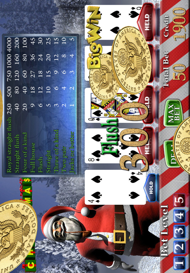 Screenshot Santa's Christmas Video Poker (Jacks or Better)